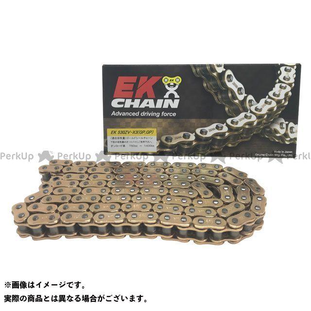送料無料 EKチェーン 汎用 チェーン関連パーツ NXリングチェーン 520ZV-X3 MLJ ゴールド 100L