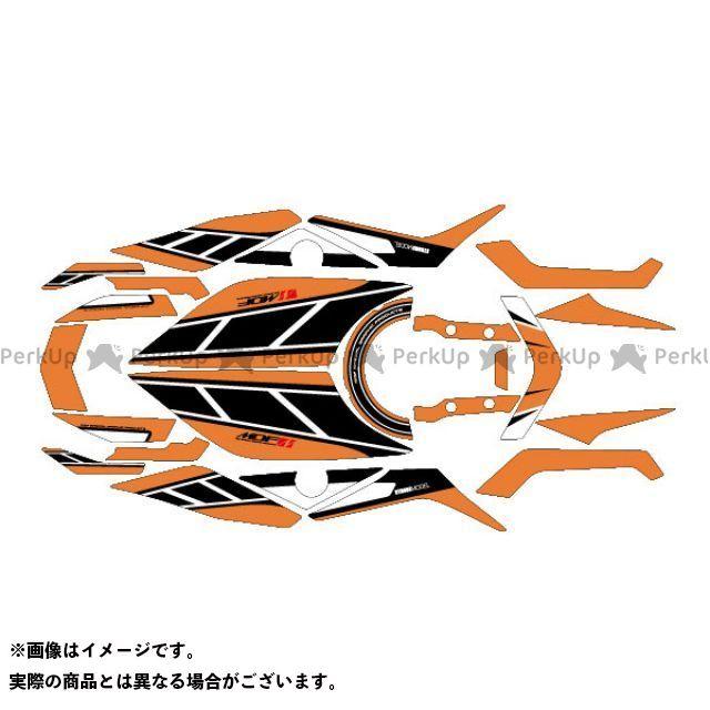 MDF MT-09 ドレスアップ・カバー MT-09(14-16) グラフィックキット ストロボモデル オレンジ コンプリートセット
