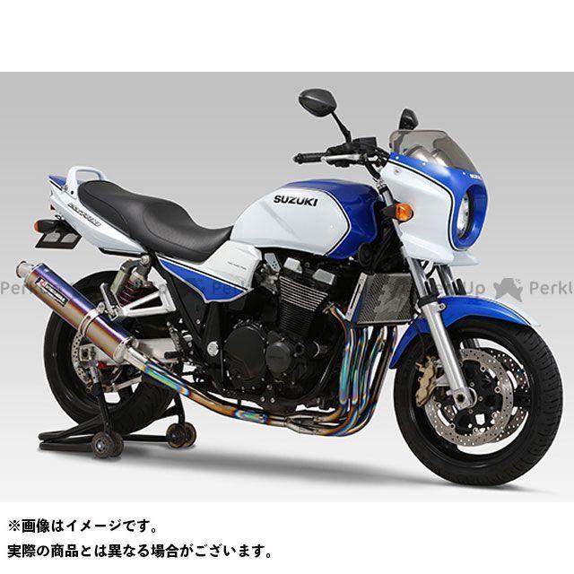 送料無料 ヨシムラ GSX1400 マフラー本体 機械曲チタンサイクロン TTB(チタンブルーカバー)