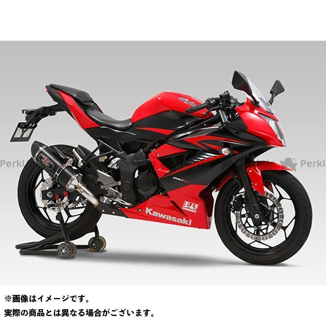 ヨシムラ ニンジャ250SL Z250SL Slip-On R-77S サイクロン カーボンエンド EXPORT SPEC 政府認証 サイレンサー:SSC(ステンレスカバー/カーボンエンドタイプ) YOSHIMURA