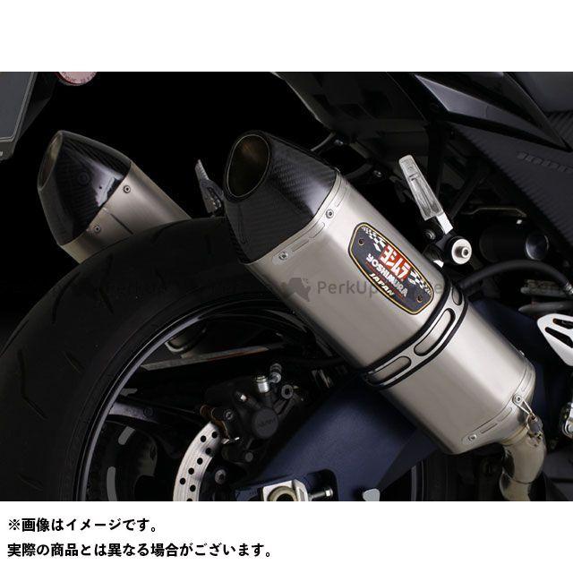 送料無料 ヨシムラ GSX-R1000 マフラー本体 Slip-On R-77J サイクロン 2本出し EXPORT SPEC STBC(チタンブルーカバー/カーボンエンドタイプ)