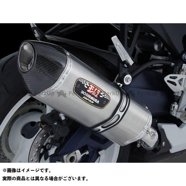 送料無料 ヨシムラ GSX-R600 GSX-R750 マフラー本体 Slip-On R-77J サイクロン EXPORT SPEC STBS(チタンブルーカバー/ステンレスエンドタイプ)