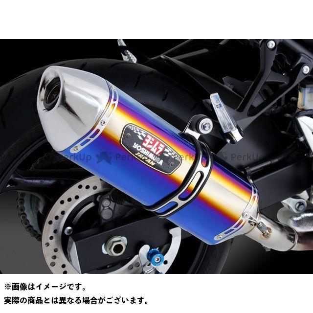 ヨシムラ GSR750 Slip-On R-77J サイクロン EXPORT SPEC サイレンサー:STBS(チタンブルーカバー/ステンレスエンドタイプ) YOSHIMURA