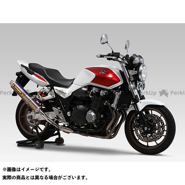 【無料雑誌付き】ヨシムラ CB1300スーパーフォア(CB1300SF) Slip-On サイクロン LEPTOS 政府認証 サイレンサー:STB(チタンブルーカバー) YOSHIMURA