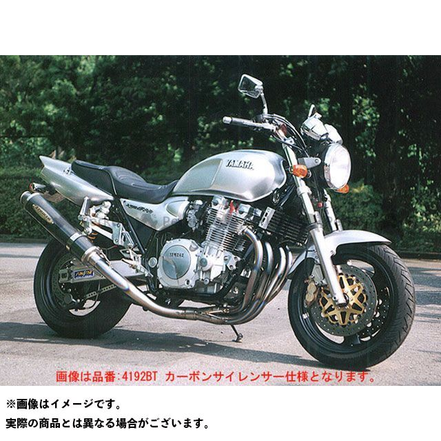 ストライカー XJR1200 XJR1300 マフラー本体 SUPER STRIKER TITAN チタンフルエキゾースト カーボン