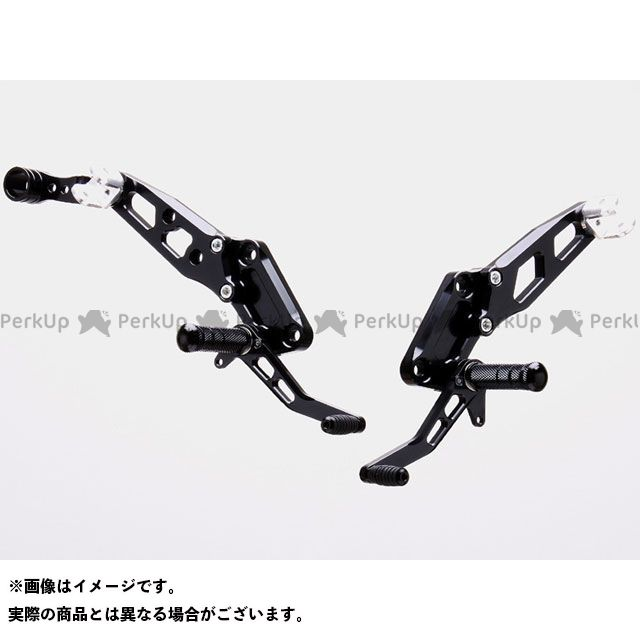 【エントリーで更にP5倍】ストライカー ZRX400 ZRX400- スペシャルステップキット DPS 1ポジション(ブラック) STRIKER