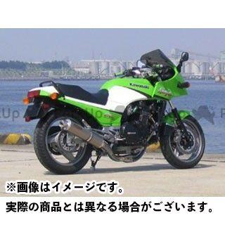 テックサーフ GPZ750R ニンジャ900 チタンEXタイプ2 STDタイプ ミラー仕上げ・チタン構造サイレンサー 素材:ソリッド techserfu