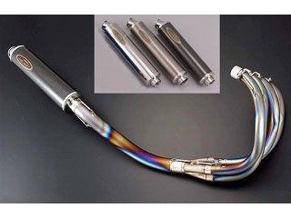送料無料 テックサーフ GSX750Sカタナ マフラー本体 チタンEXタイプ2 カールエンド チタン構造サイレンサーφ110 ポリッシュ