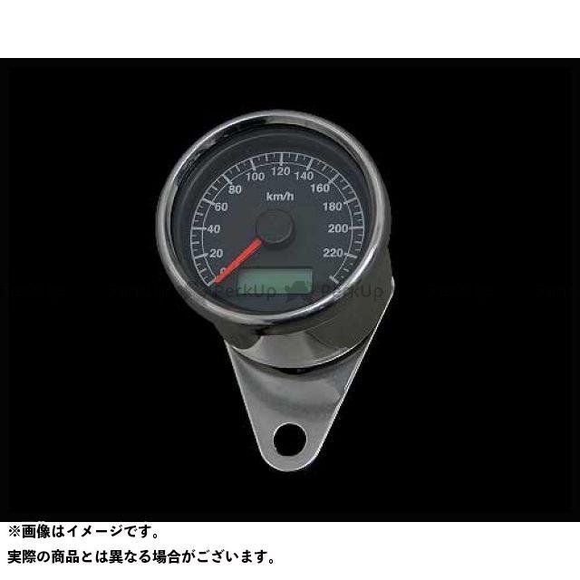 送料無料 ネオファクトリー ハーレー汎用 スピードメーター 60mmケーブルアジャスタブルスピードメーター ステンレス 黒盤 白光