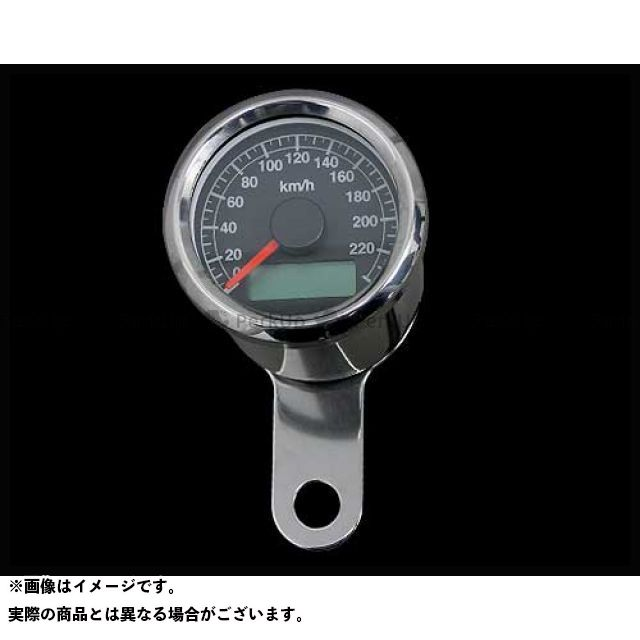 ネオファクトリー ハーレー汎用 48mm アジャスタブルスピードメーター ボディ:ステンレス 文字盤:黒 バックLED:白光 ネオファク