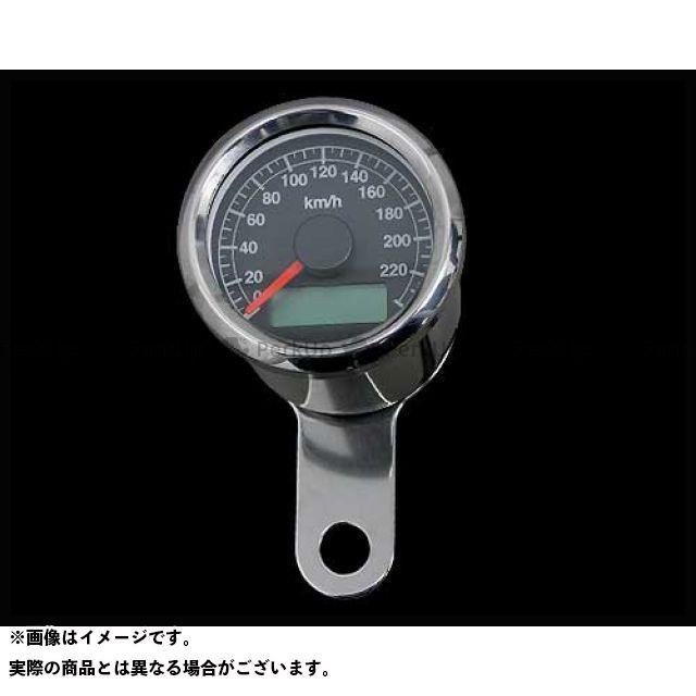 ネオファクトリー ハーレー汎用 48mmケーブルアジャスタブルスピードメーター ボディ:ステンレス 文字盤:黒 バックLED:白光 ネオファク