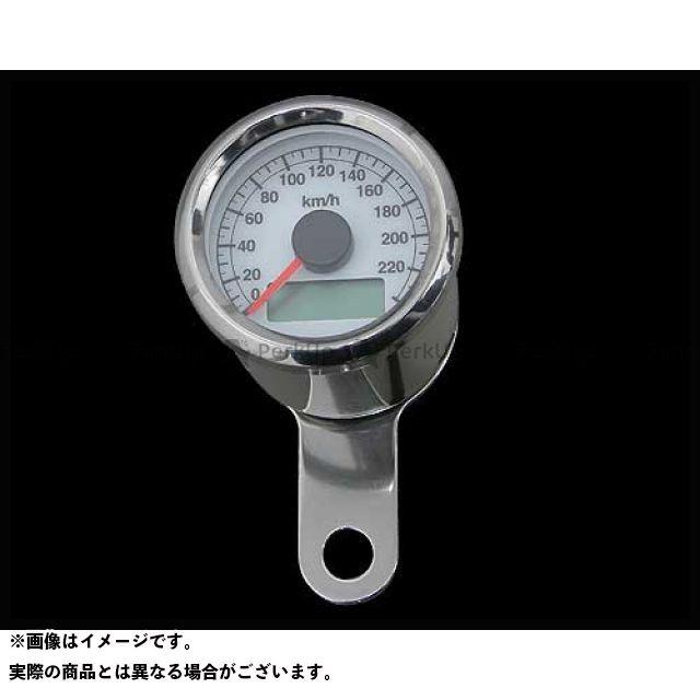ネオファクトリー ハーレー汎用 48mmケーブルアジャスタブルスピードメーター ボディ:ステンレス 文字盤:白 バックLED:白光 ネオファク