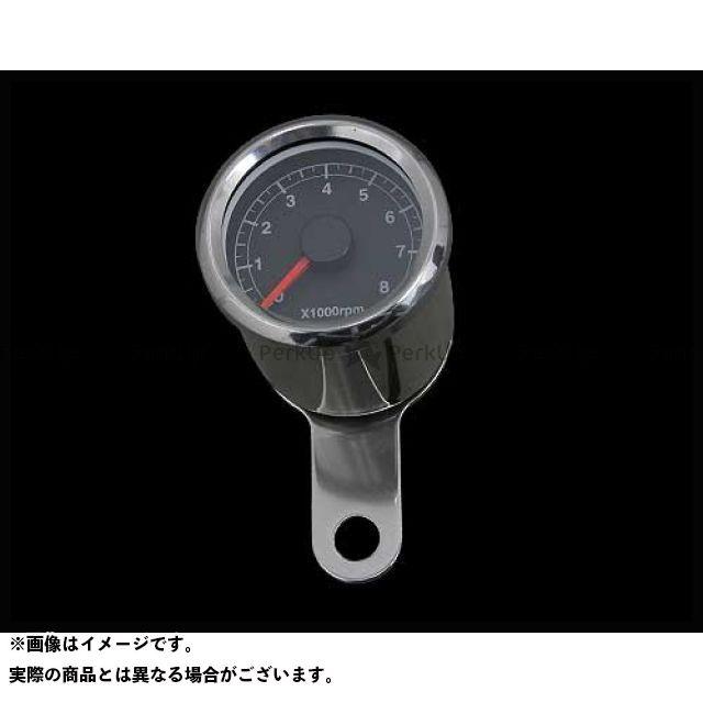 【エントリーで更にP5倍】ネオファクトリー ハーレー汎用 48mm アジャスタブルタコメーター ボディ:ステンレス 文字盤:黒 バックLED:白光 ネオファク