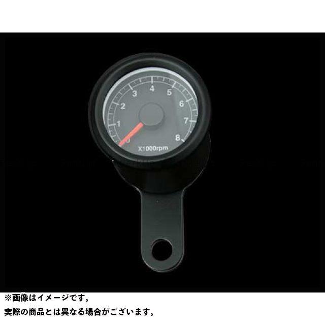 送料無料 ネオファクトリー ハーレー汎用 タコメーター 48mm アジャスタブルタコメーター ブラック 黒 橙光
