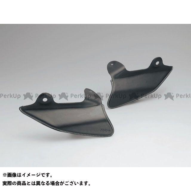 キジマ ツーリングファミリー汎用 サドルヒートガード(FRP製) レザータイプ/ブラック