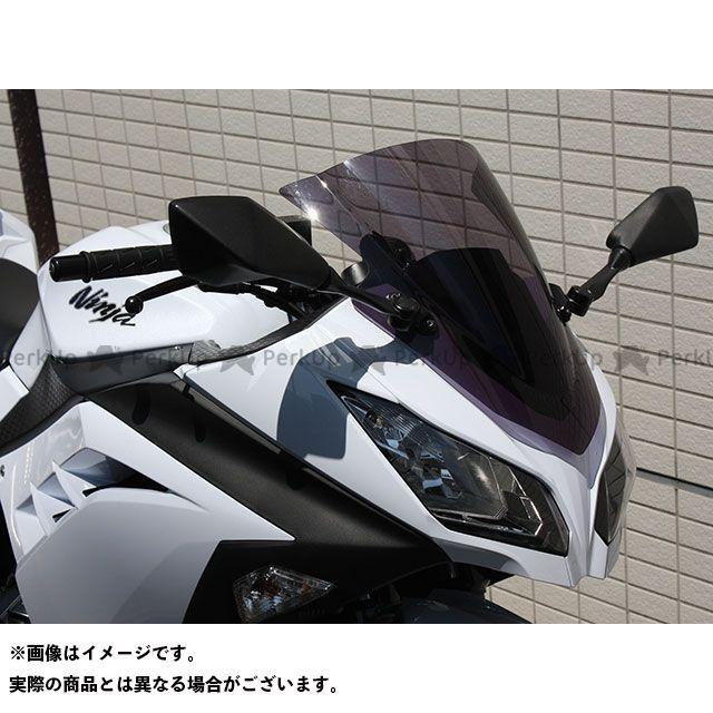 アクリポイント ニンジャ250 Ninja250 2013-2016用スクリーン ストリート(スモーク) ACRY-Point