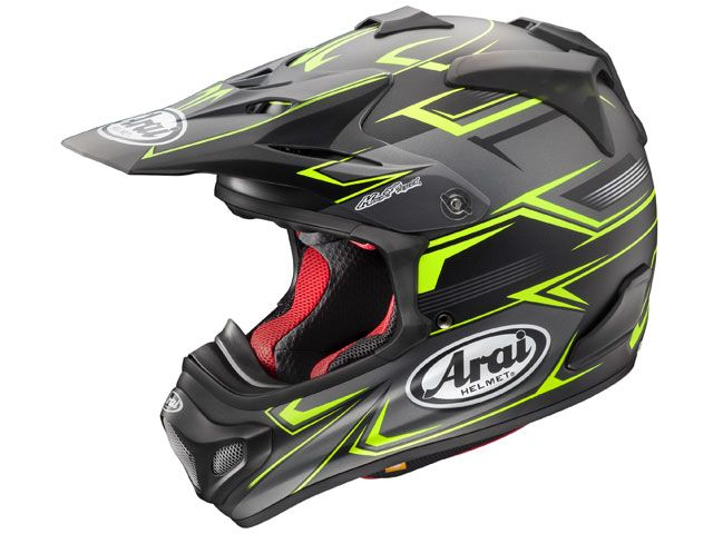 送料無料 アライ ヘルメット Arai オフロードヘルメット V-CROSS 4 SLY(V-クロス4・スライ) イエロー 54cm