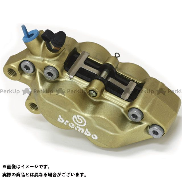 ブレンボ 汎用 Axial 40mm P4 30/34 Caliper ゴールド 左用 brembo