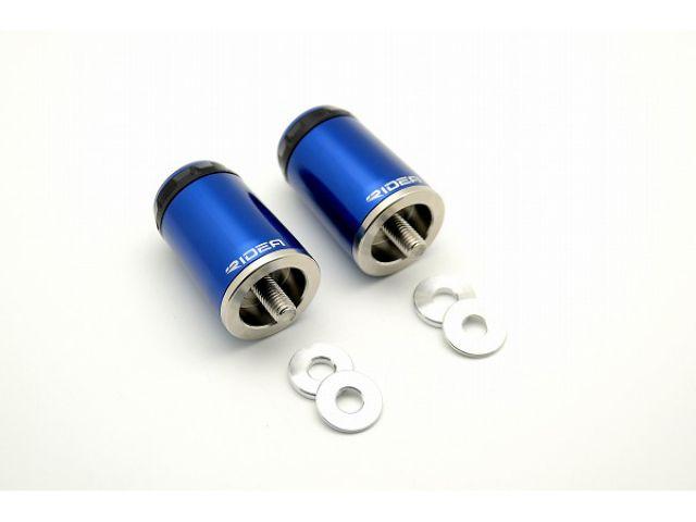 送料無料 リデア ニンジャ650 ハンドル関連パーツ KAWASAKI NINJA650 12-14用 RIDEA SPINNER ハンドルバーエンド ロングタイプ ブルー