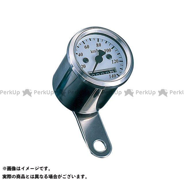 送料無料 ポッシュフェイス 汎用 スピードメーター LEDバックライトミニミニスピードメーター(機械式) ホワイトパネル