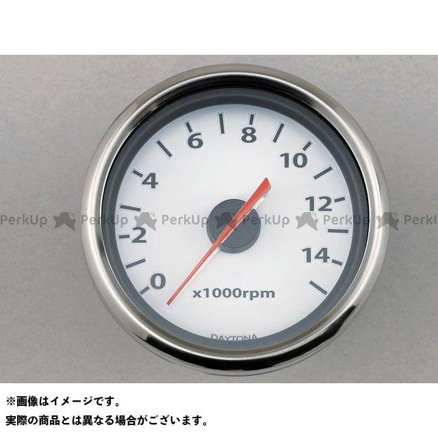 送料無料 デイトナ 汎用 タコメーター 電気式タコメーター LED照明(9000rpm/ホワイトパネル) 15000rpm ホワイトパネル