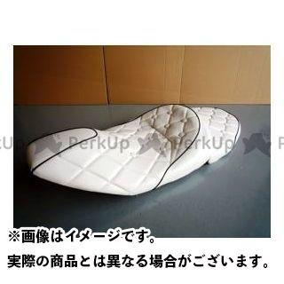 グロウワン マジェスティ NEWマジェ用 ローダウンラグジーシート つや消し白/黒 GROWONE