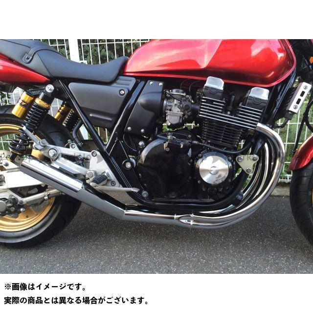 マッドスター XJR400 XJR400(前期)用 ワンピースショート管マフラー カラー:メッキ MADSTAR
