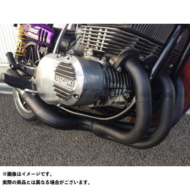 マッドスター GT380 G-380-M GT380用 丸管薄型集合管マフラー ブラックVer.