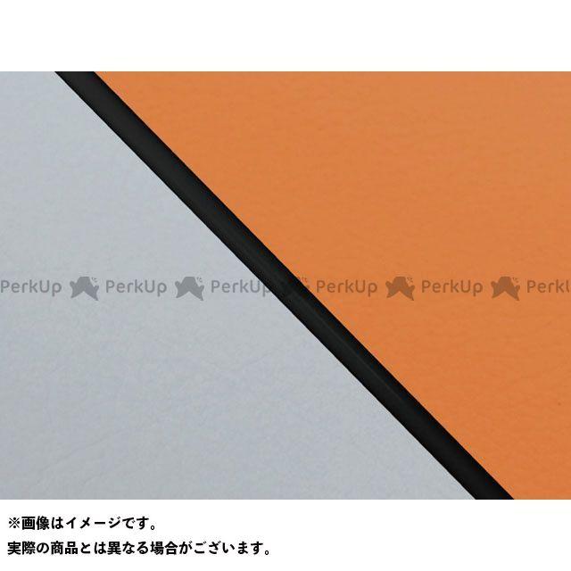 送料無料 グロンドマン W650 シート関連パーツ W650(99年 EJ650A1/C1) 国産シートカバー 張替 オレンジ グレーライン 黒パイピング