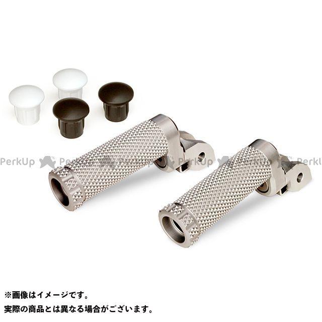【エントリーで更にP5倍】モトクレイジー SBKアルミステップM-8Pキット 15mm(8ポジション) カラー:ホワイト MotoCRAZY