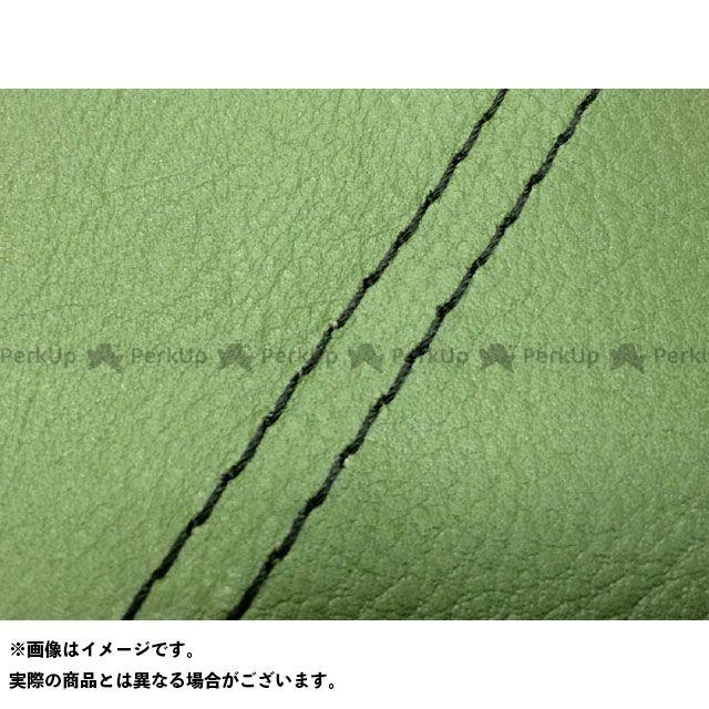 【エントリーで最大P23倍】グロンドマン W650 W650(99年 EJ650A1/C1) 国産シートカバー 張替 ダークグリーン ライン:- 仕様:黒ダブルステッチ Grondement
