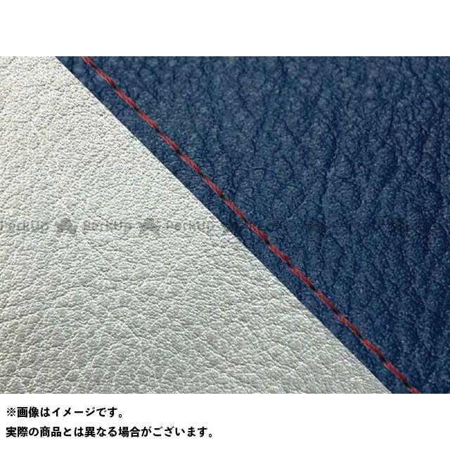 【エントリーで最大P23倍】グロンドマン W650 W650(99年 EJ650A1/C1) 国産シートカバー 張替 ネイビー ライン:シルバーライン 仕様:赤ステッチ Grondement