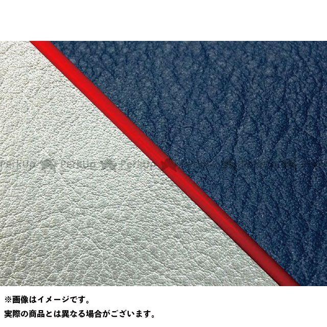 グロンドマン W650 W650(99年 EJ650A1/C1) 国産シートカバー 張替 ネイビー ライン:シルバーライン 仕様:赤パイピング Grondement