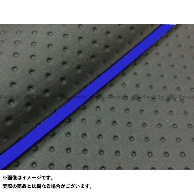 【エントリーで最大P23倍】グロンドマン W650 W650(99年 EJ650A1/C1) 国産シートカバー 張替 フルエンボスブラック ライン:- 仕様:青パイピング Grondement