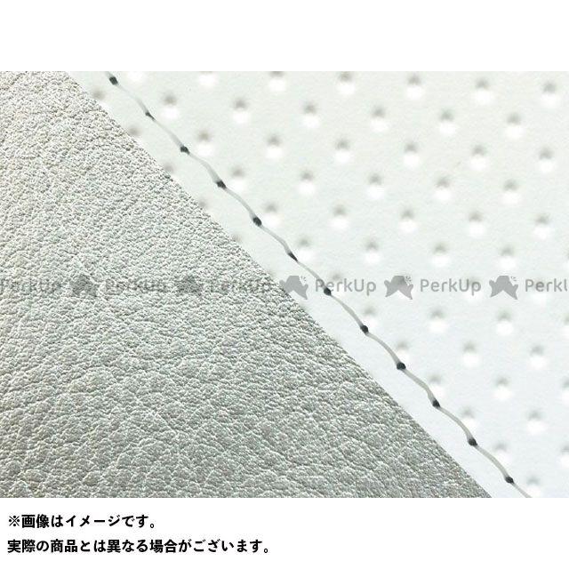 グロンドマン W650 W650(99年 EJ650A1/C1) 国産シートカバー 張替 フルエンボスホワイト ライン:シルバーライン 仕様:透明ステッチ Grondement