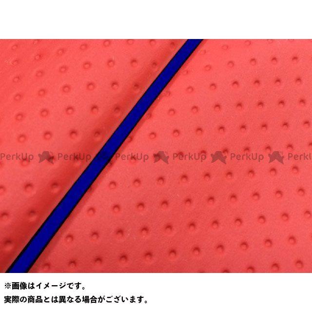 グロンドマン W650 W650(99年 EJ650A1/C1) 国産シートカバー 張替 フルエンボスレッド ライン:- 仕様:青パイピング Grondement