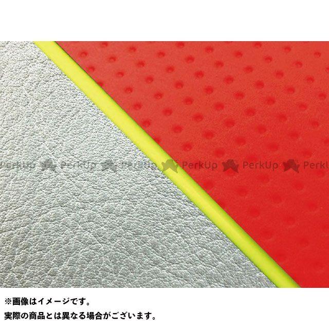 【エントリーで最大P23倍】グロンドマン W650 W650(99年 EJ650A1/C1) 国産シートカバー 張替 フルエンボスレッド ライン:シルバーライン 仕様:黄パイピング Grondement