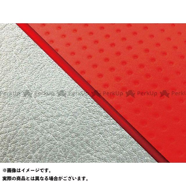 送料無料 グロンドマン W650 シート関連パーツ W650(99年 EJ650A1/C1) 国産シートカバー 張替 フルエンボスレッド シルバーライン 赤パイピング