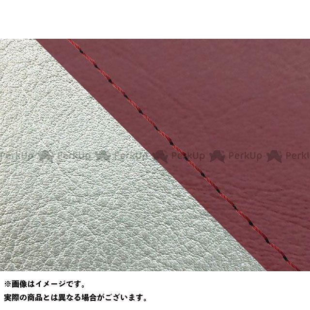 グロンドマン W650 W650(99年 EJ650A1/C1) 国産シートカバー 張替 ワインレッド ライン:シルバーライン 仕様:赤ステッチ Grondement