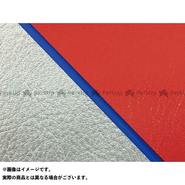【エントリーで最大P23倍】グロンドマン W650 W650(99年 EJ650A1/C1) 国産シートカバー 張替 赤 ライン:シルバーライン 仕様:青パイピング Grondement