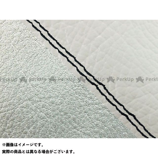 【エントリーで最大P23倍】グロンドマン W650 W650(99年 EJ650A1/C1) 国産シートカバー 張替 白 ライン:シルバーライン 仕様:黒ダブルステッチ Grondement