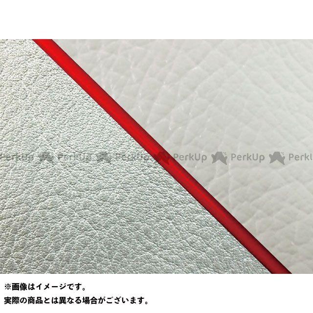 グロンドマン W650 W650(99年 EJ650A1/C1) 国産シートカバー 張替 白 ライン:シルバーライン 仕様:赤パイピング Grondement