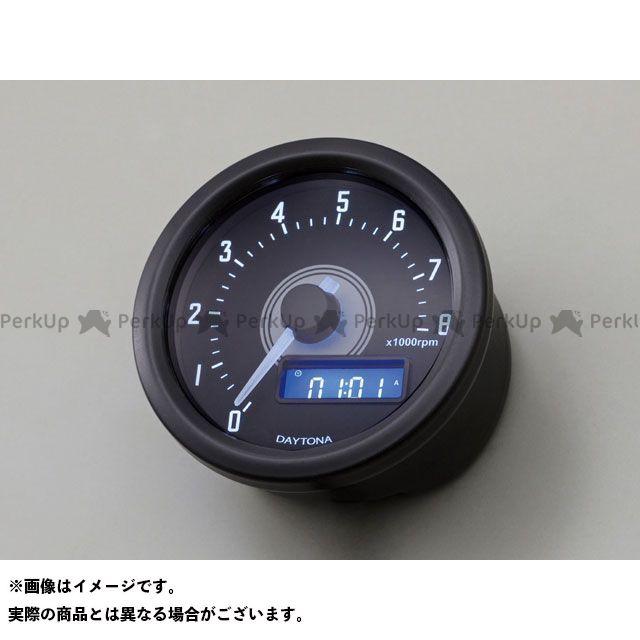 デイトナ VELONA 電気式タコメーター 8000rpm ホワイトLED カラー:ブラックボディ DAYTONA
