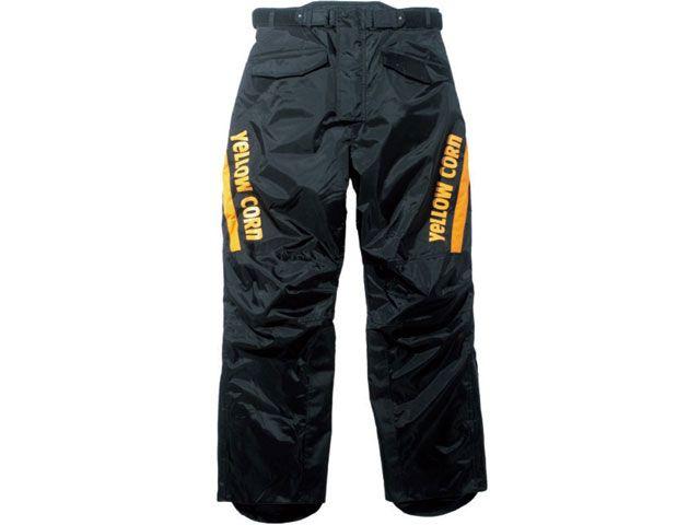 送料無料 イエローコーン YeLLOW CORN パンツ YP-6330 オーバーパンツ ブラック/イエロー 3L