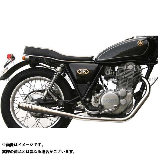 モーターロック SR400 SR500 SR400/500用 69メガホン フルエキゾースト タイプ:ダウン Motor Rock