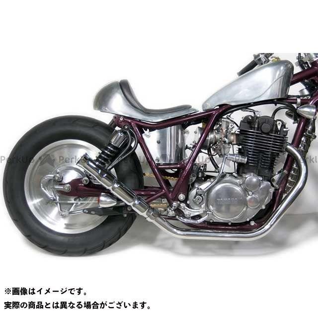 フルエキゾースト Motor バンブーマフラー/フレアエンド SR400 SR500 SR400/500用 タイプ:アップ モーターロック Rock