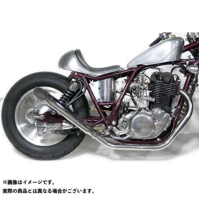 SR400/500用 モーターロック フルエキゾースト SR500 Rock タイプ:アップ Motor SR400 ターンアウトマフラー