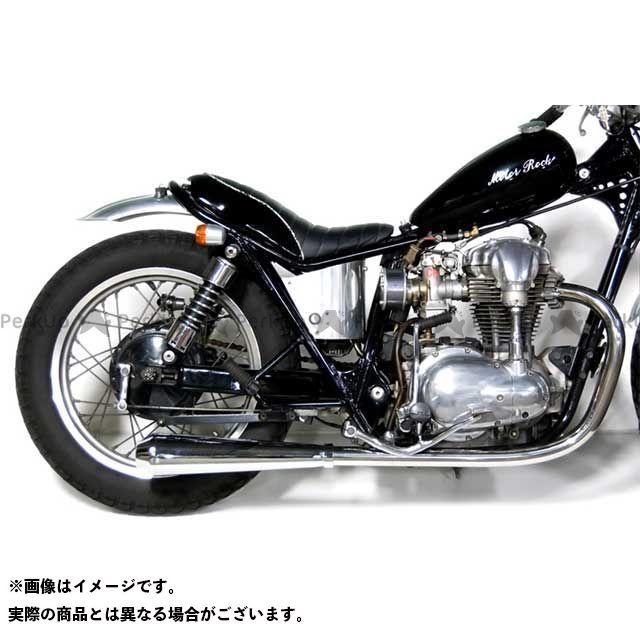 モーターロック W400 W650 W650/400用 メガホンマフラー フルエキゾースト LOW Motor Rock