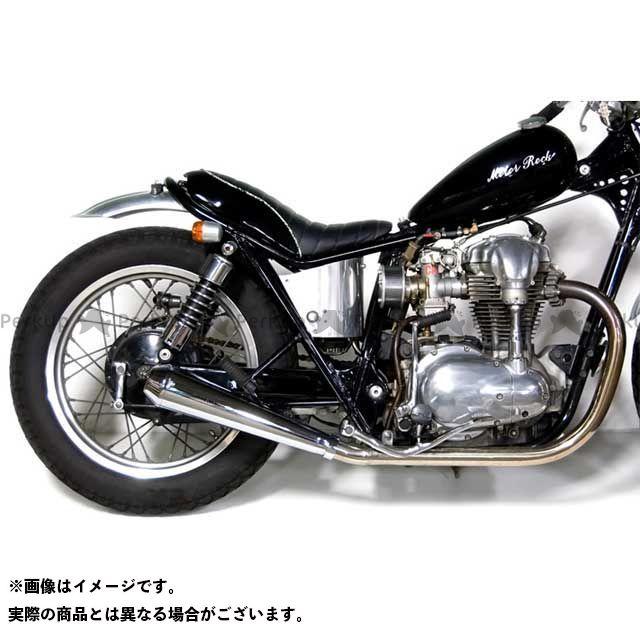 【無料雑誌付き】モーターロック W400 W650 W650/400用 メガホンマフラー フルエキゾースト タイプ:MID Motor Rock