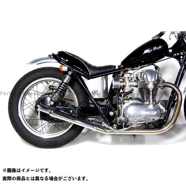 【エントリーで最大P21倍】モーターロック W400 W650 W650/400用 トランペットマフラー/ストレート フルエキゾースト タイプ:MID Motor Rock